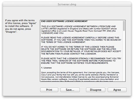 Disk Image Licence Agreement