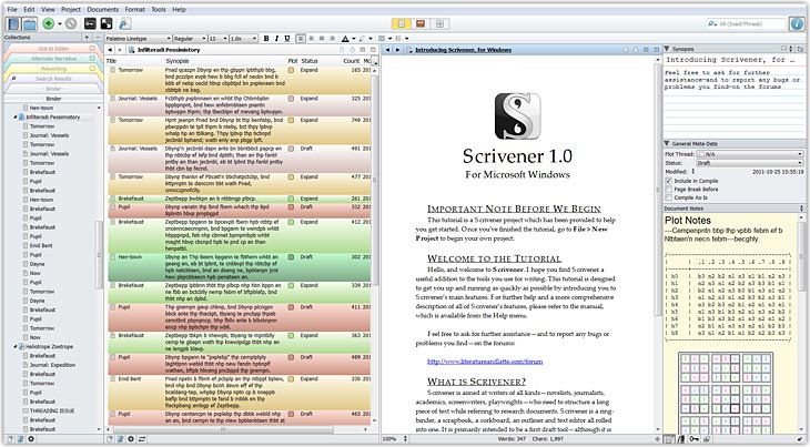 Screenshot Scrivener