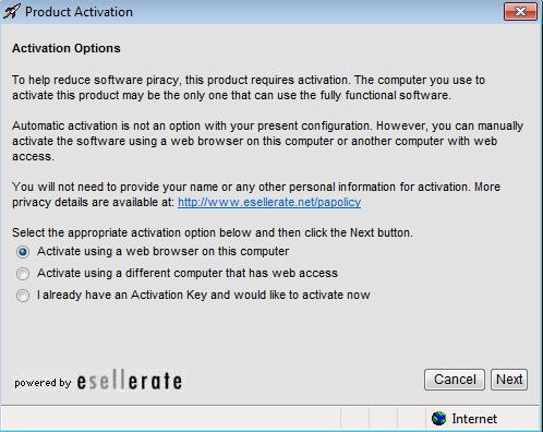Offline Activation
