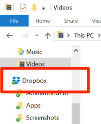 Dropbox on Windows