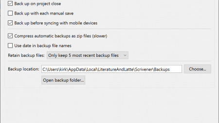 How to Back Up Your Scrivener Projects