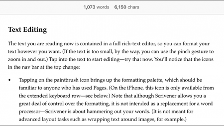 Count words (and optionally characters) as you type.