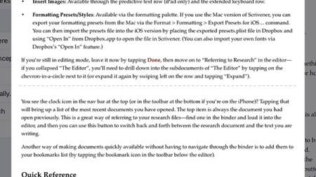 Scrivener for iPad: The Draft Navigator