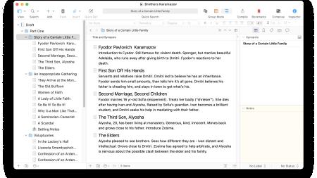 Merge and Split Files in the Scrivener Binder