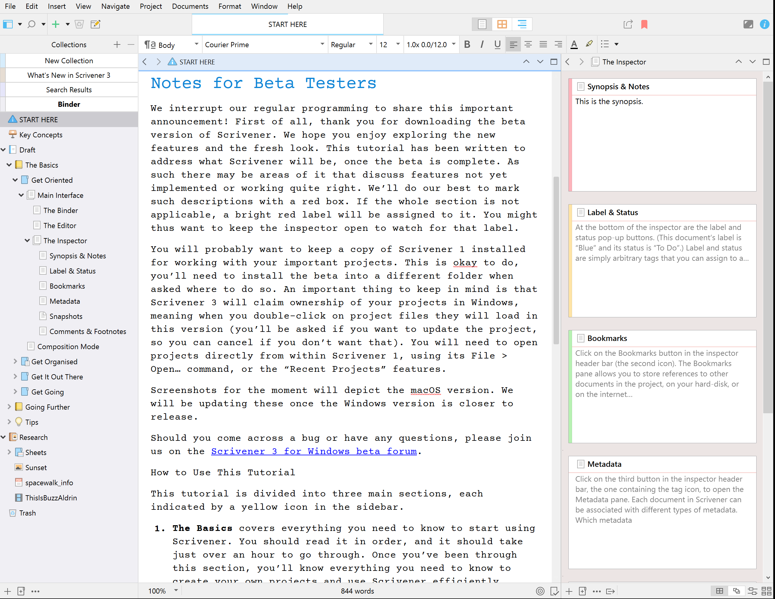 Scrivener 3 for Windows