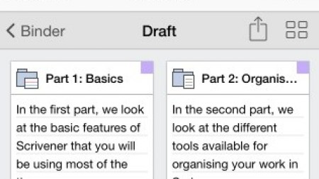 The Vapour Trail of Scrivener for iOS