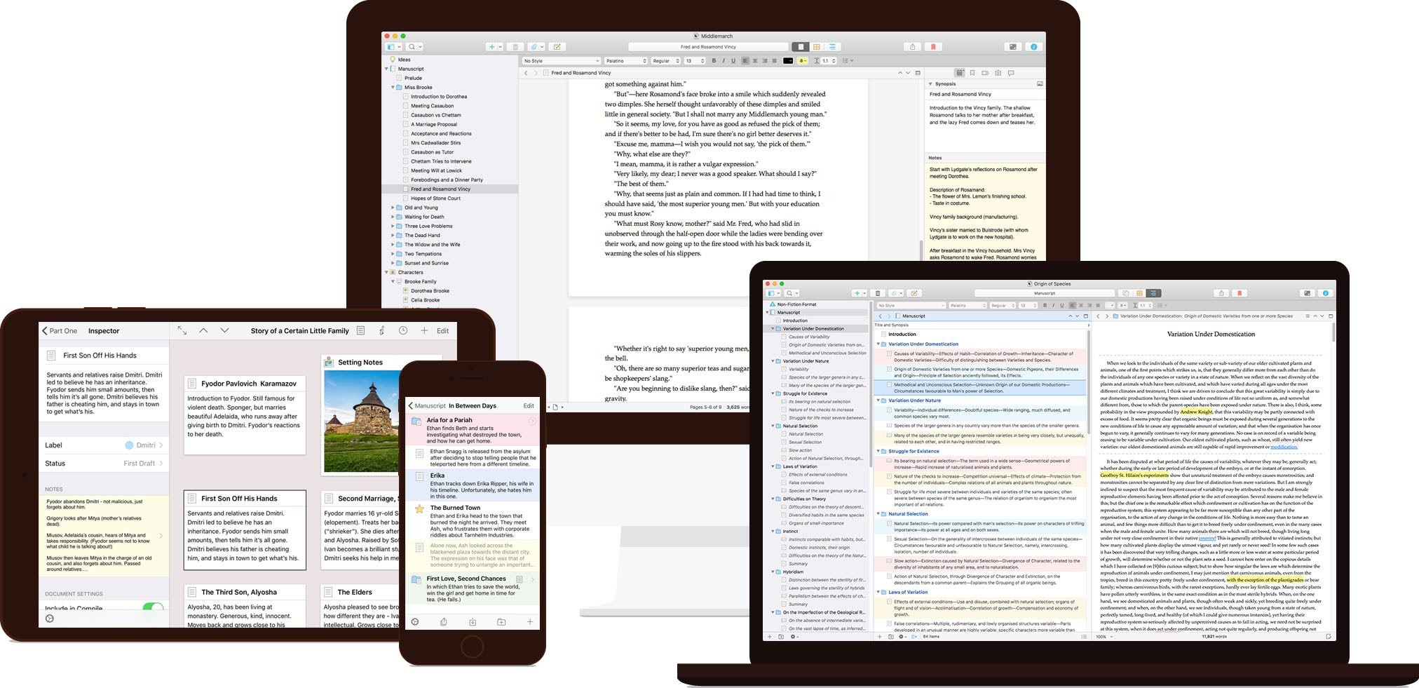 Scrivener - Features Devices