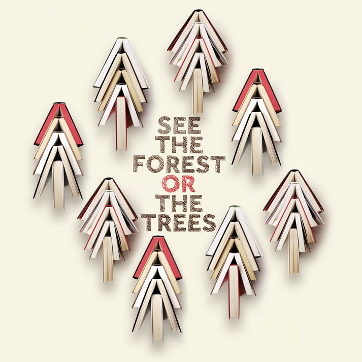 See the forest or the trees.