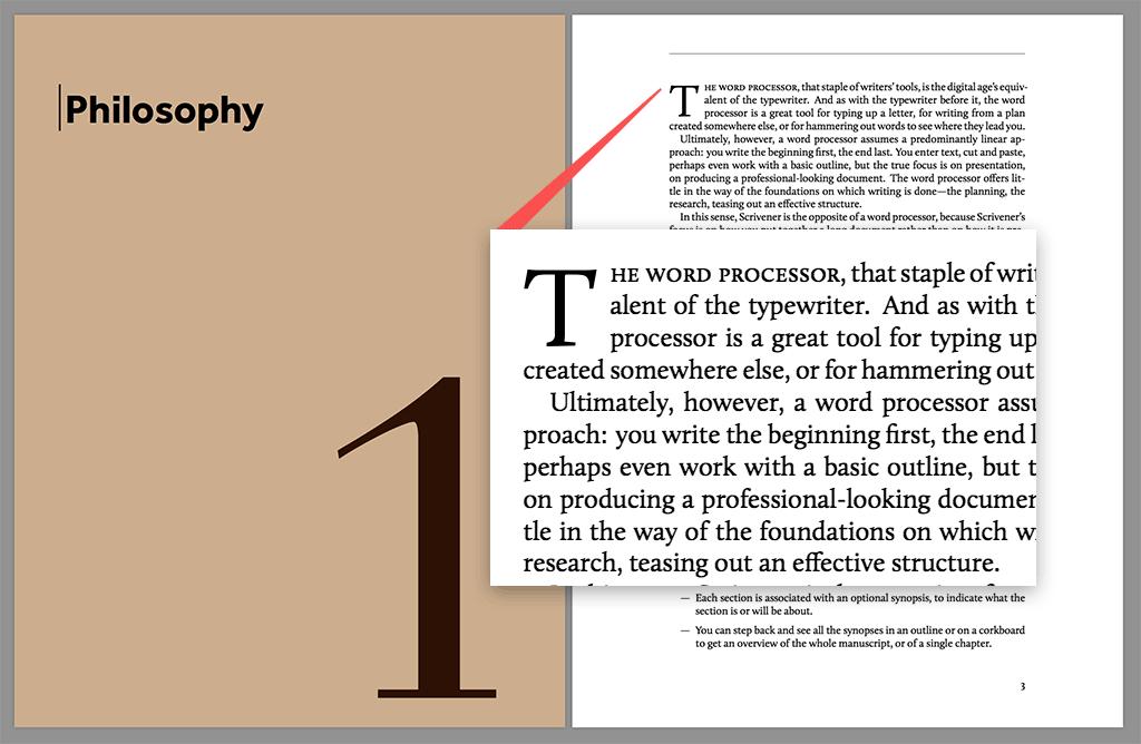 Drop Caps in Scrivener for Print - Literature and Latte