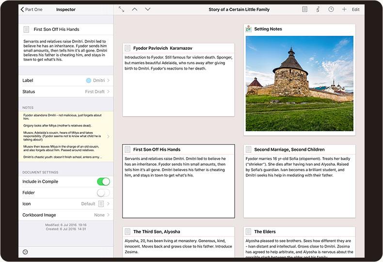 Scrivener for iOS screenshot