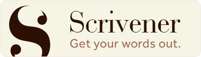 Scrivener: Get your words out.