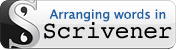 Arranging words in Scrivener